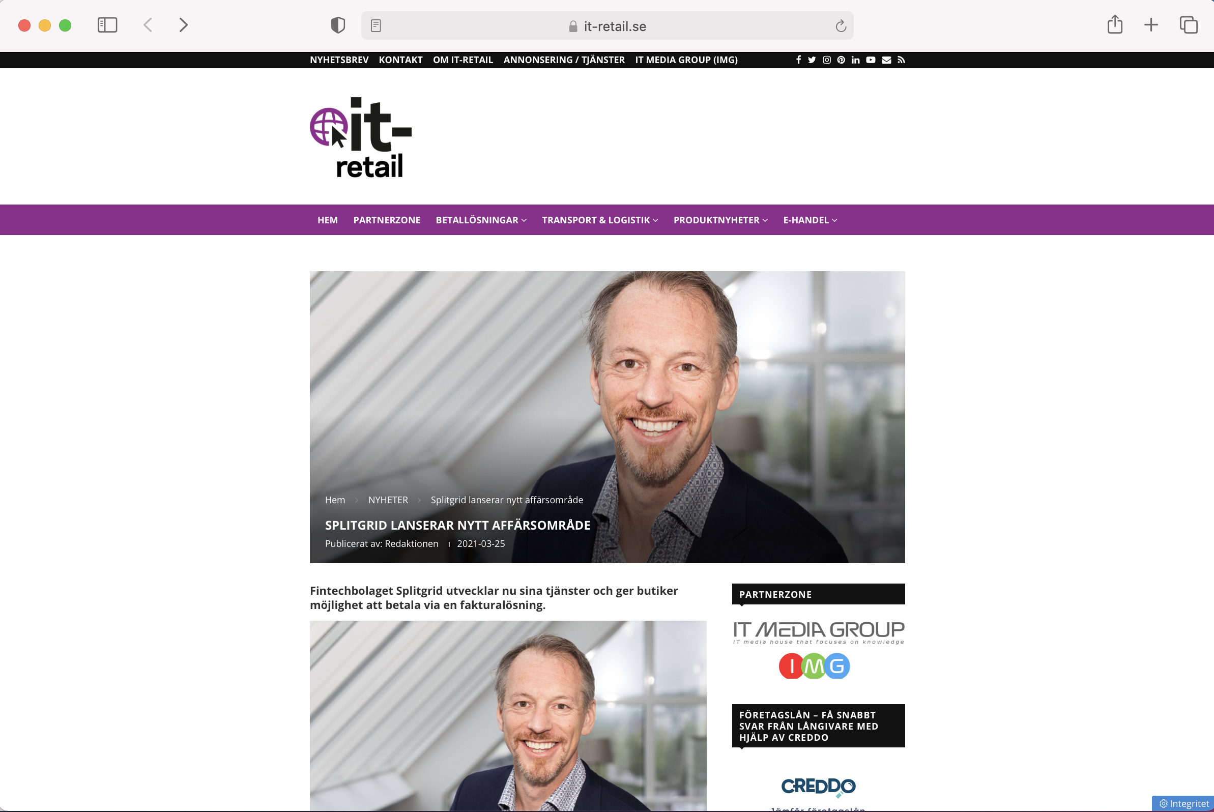 Splitgrid in IT-Retail